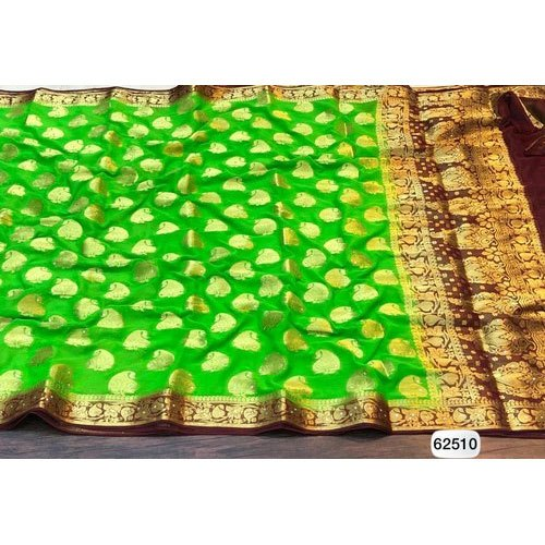 Fancy Green Color Saree
