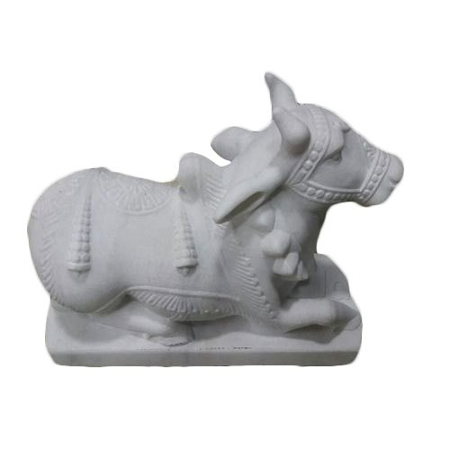 Marble Nandi Statue