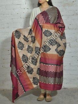 Designer Tussar Silk Dupatta