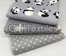 Printed Cotton Grey Fabric