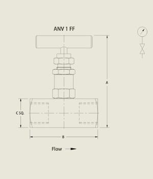 ANV 1 FF Needle Valve