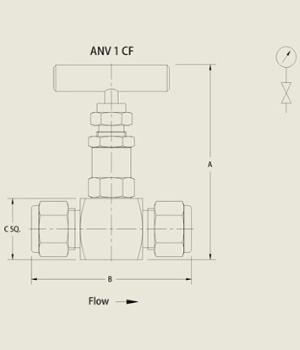 ANV 1 CF Needle Valve