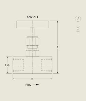 ANV 2 FF Needle Valve