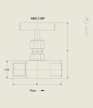 ANV 2 MF Needle Valve