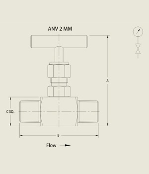 ANV 2 MM Needle Valve