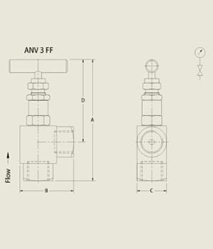 ANV 3 FF Needle Valve