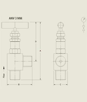 ANV 3 MM Needle Valve