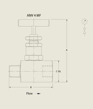 ANV 4 MF Needle Valve