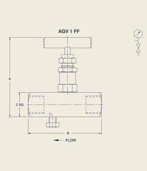 AGV 1 FF Guage Bleed Valve