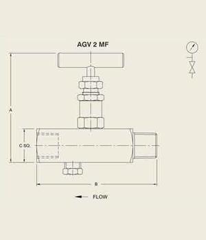 AGV 2 MF Gauge Vent Value