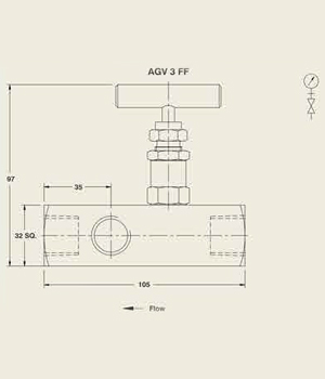 AGV 3 FF Multiport Gauge Valve