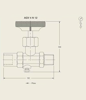 AGV 4 N 12 Forged Body Gauge Valve
