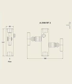 A 2VM RF 3 Manifold Valve