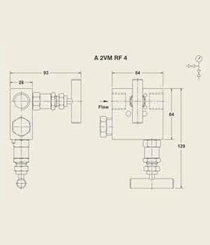 A 2VM RF 4 Manifold Valve