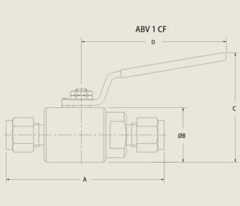 ABV 1 CF Low Pressure Ball Valve