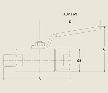 ABV 1 MF Low Pressure Ball Valve