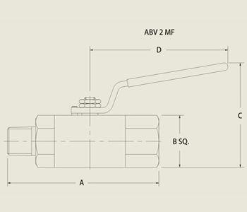 ABV 2 MF High Pressure Ball Valve