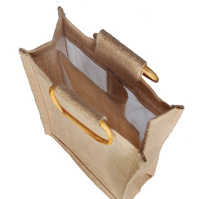 Wooden Handle Jute Bags