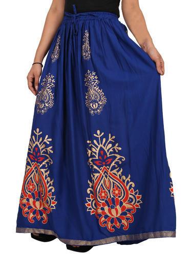 Ladies Rayon Skirt