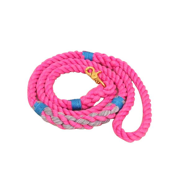 Pink Cotton Rope Dog Leash