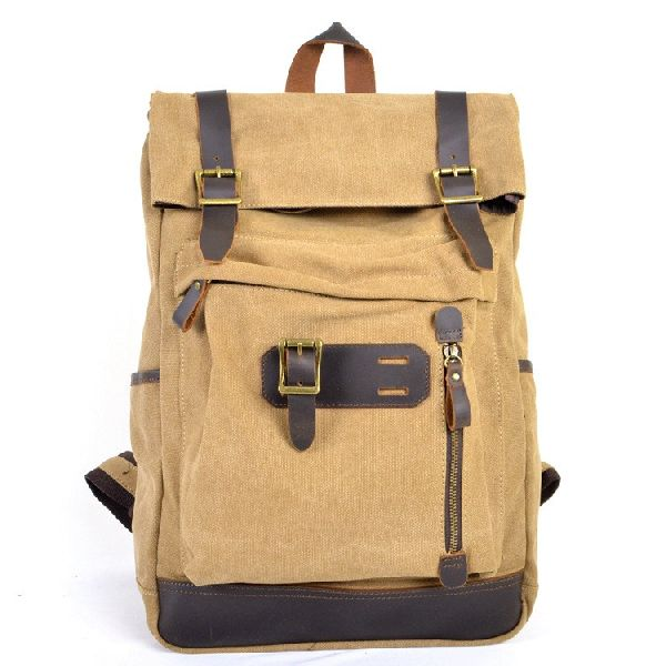 Leather Waxed Canvas Backpack