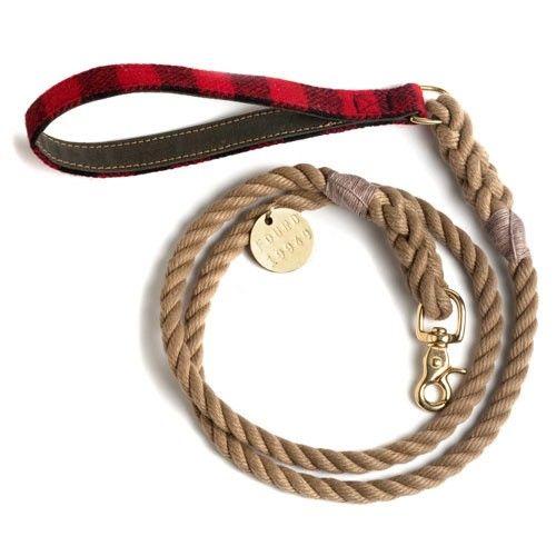 Braided Leather Dog Leash