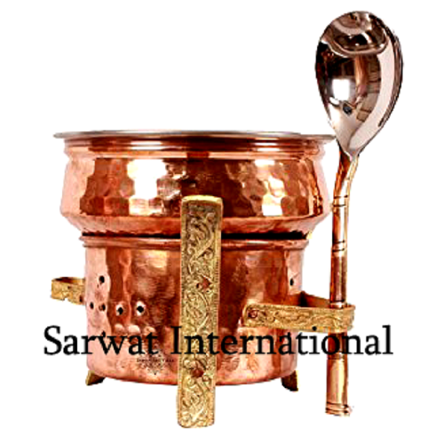 Copper Sigri with Spoon & Handi