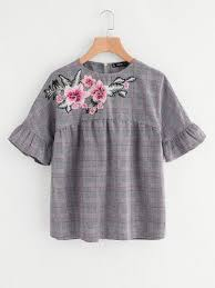 Embroidered Cotton Tops