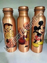 Cartoon Printed Copper Bottle