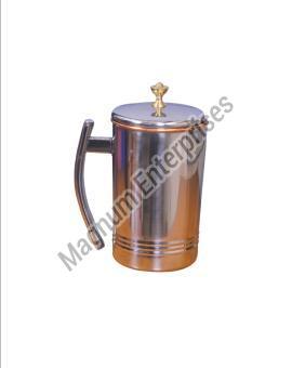 Steel Copper Platinum Jug