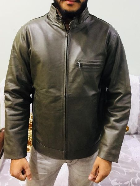 Mens Green Leather Jacket