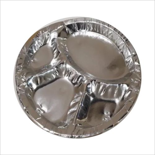 4 Compartment Disposable Silver Plate