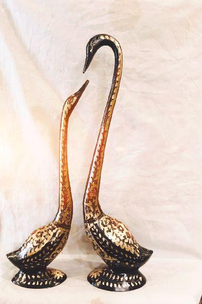 Brass Swan Statue