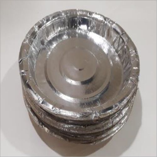 Disposable Plain Silver Paper Plate