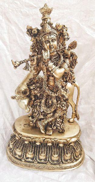 Brass Krishna Statute