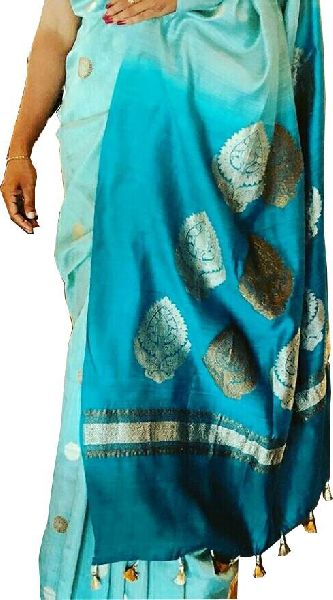 Hand Dyed Handloom Chiffon Silk Saree