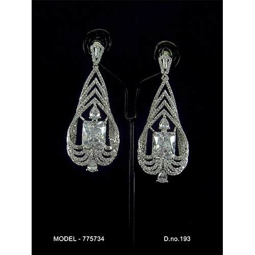Engagement American Diamond Earrings