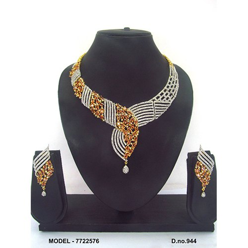 Party Wear American Diamond Necklace Set