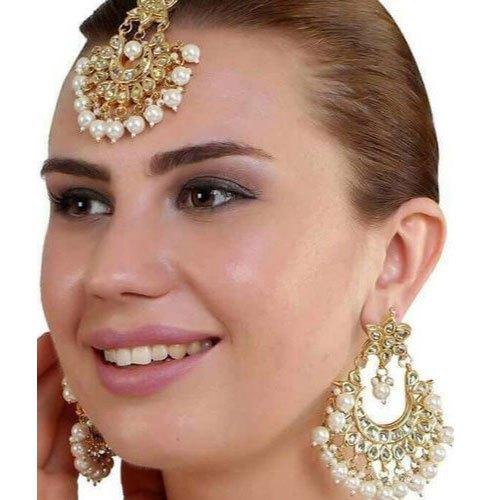 Ethnic Earrings Maang Tikka Set