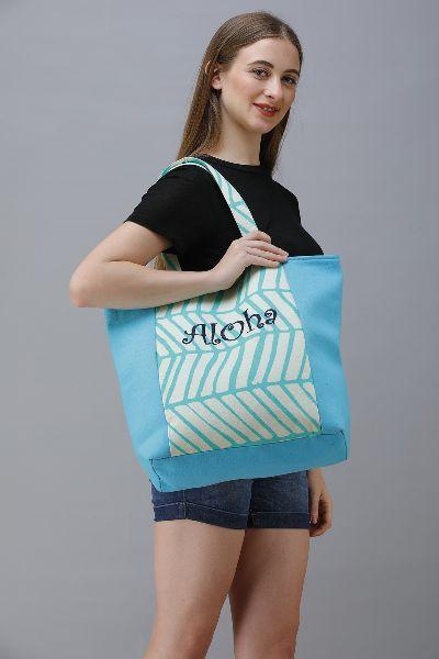 Embroidery Cotton Canvas Shopper Bag