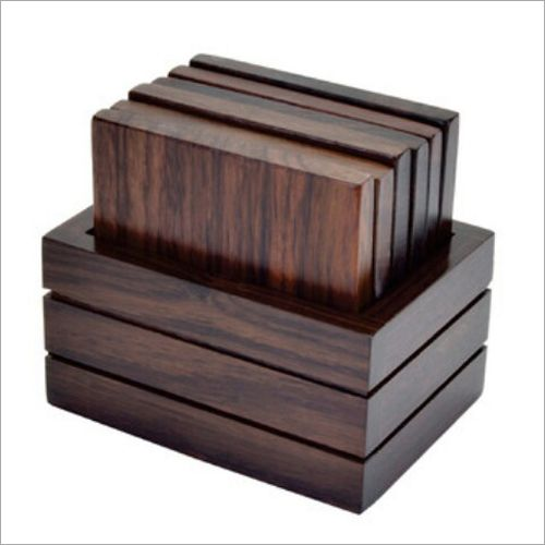 Wooden Rectangle Tea Coaster