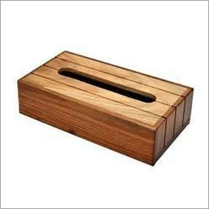 Wooden Rectangle Tissue Holder