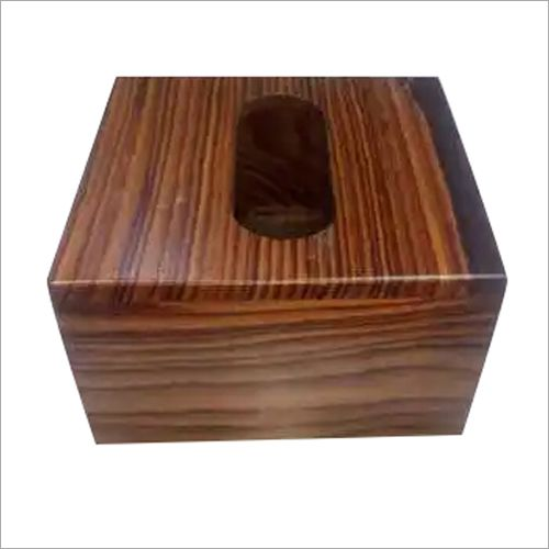 Wooden Square Tissue Holder