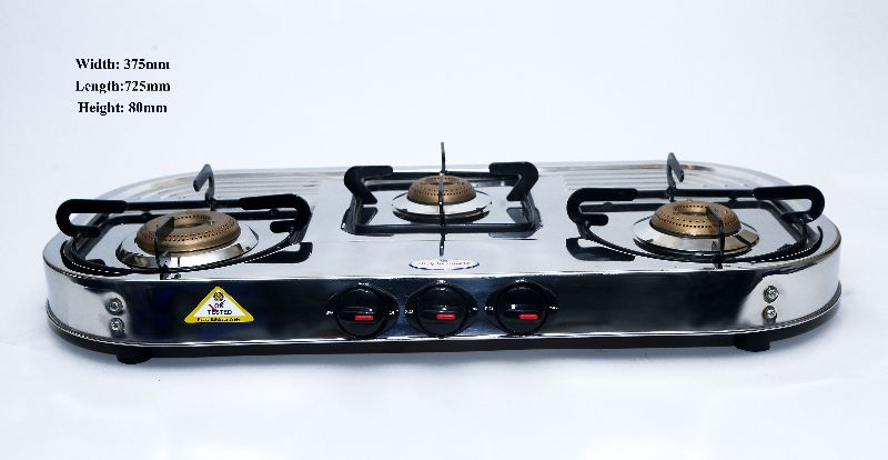 3 Burner Lancer Gas Stove
