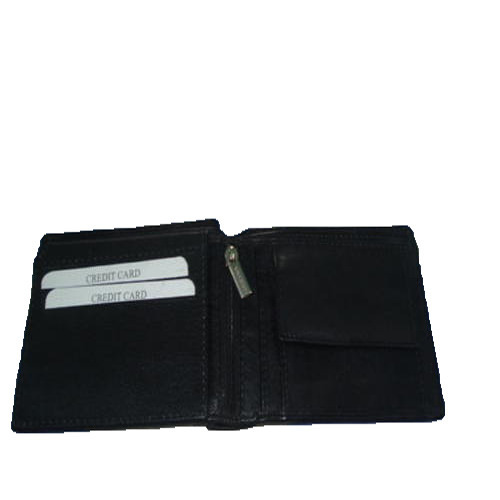 Mens Zipper Leather Wallet
