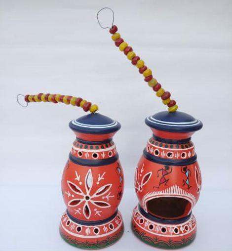 Warli Painted Lantern