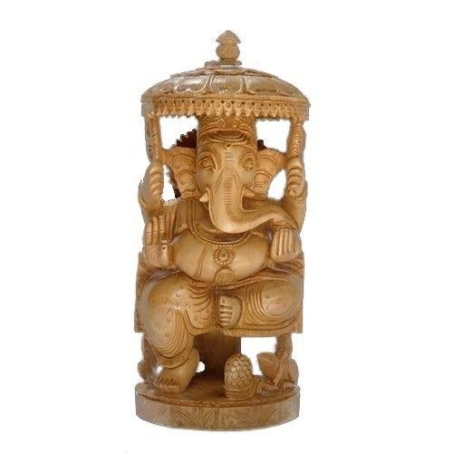 Wooden Lord Ganesha Statue