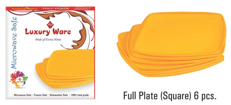 Full Plate (Square) 6 Pcs