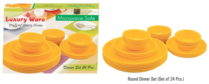Microwavable Plastic Dinner Set