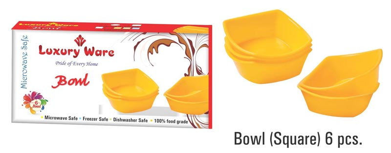 Microwavable Plastic Serving Bowl Set